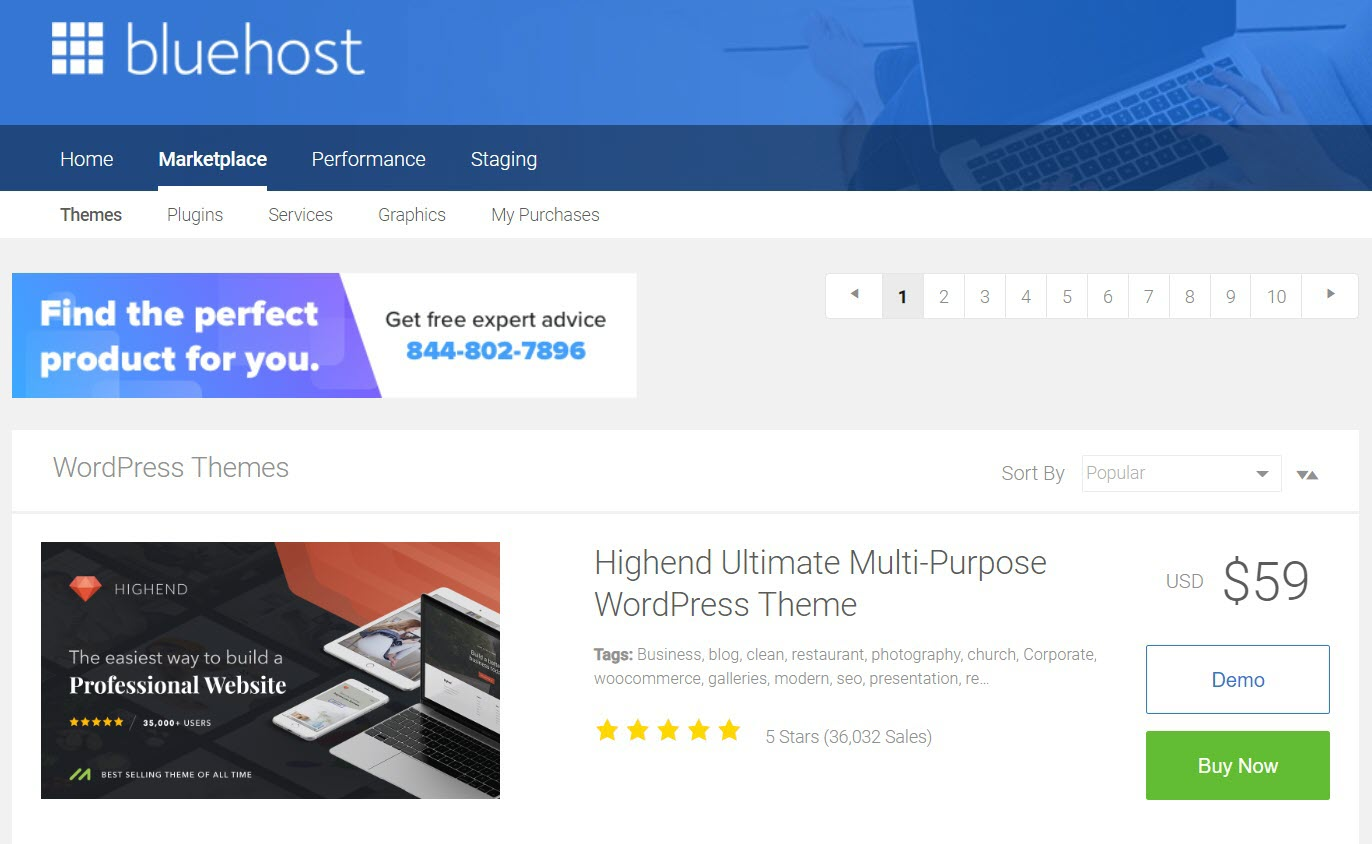 Bluehost Themes New