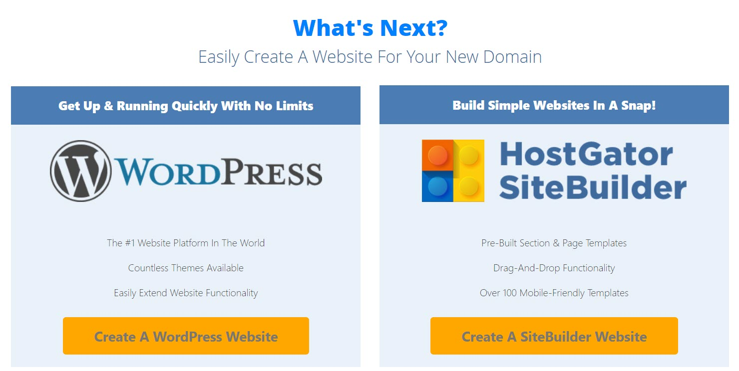 HostGator WordPress or Website Builder